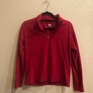 Red Columbia Fleece Pull Over
